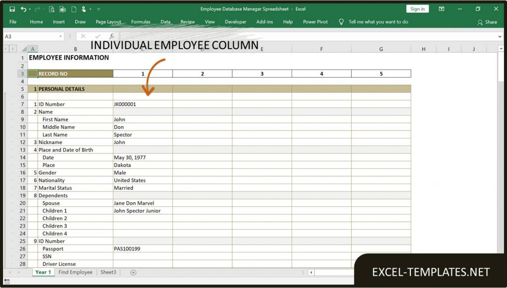 Employee-Database-Manager-Spreadsheet